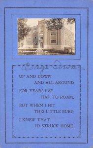 RPPC OSAGE IA High School Iowa Poem Vintage Real Photo Postcard 1914