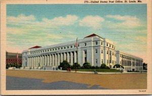 U.S. Post Office, St. Louis, Missouri  Vintage Postcard LINEN UNPOSTED