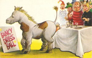 Facy Dress Ball. Horse Humorous Bamforth Comic Ser.PC # 2621