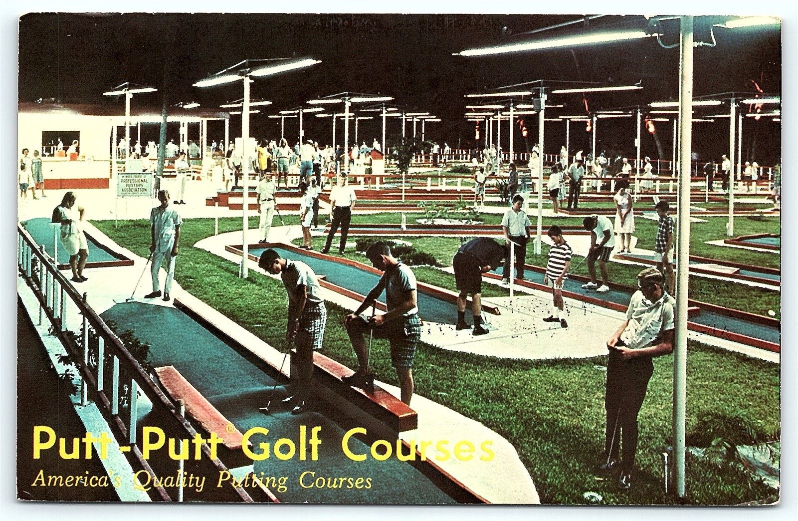 Postcard NM Albuquerque Putt Putt Miniature Golf Courses Ad