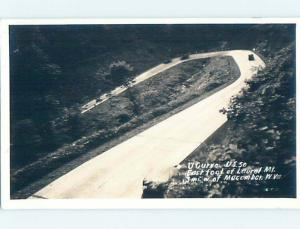 Pre-1942 rppc US HIGHWAY 50 HAIRPIN TURN Macomber West Virginia WV HM3412