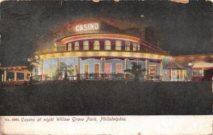 Philadelphia Pennsylvania~Casino At Night~Willow Grove Amusement Park c1910