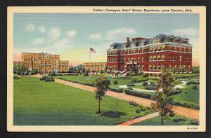 Distance View Father Flanagan Boys Home Boystown Omaha Nebraska Unused c1939