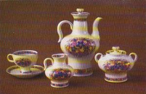 Russia Leningrad Coffee Set Russian Field 1973 Museum Of The Lomonosov Porcel...