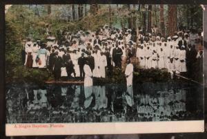 1930s St Petersburg FL USA Postcard Cover Black Americana Negro Baptism To Londo