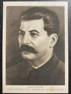 Mint Czechoslovakia picture Postcard Josef Stalin Portrait