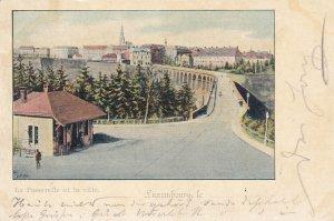 La Passerelle et la ville, Luxembourg , PU-1900