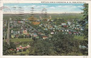 HUNTINGTON, West Virginia, PU-1941; Bird's Eye View, Huntington from Ritter Hill