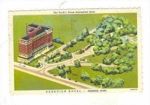 Aerial View, Parkview Hotel, Memphis, Tennessee, 30-40s