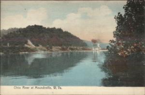 Moundsville WV Ohio River c1910 Rotograph Postcard