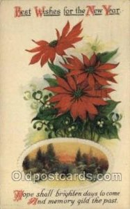 New Year Postal Used Unknown light corner wear, crease in card, a lot of pape...