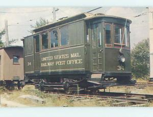 New Bedford Mail Train Car At Trolley Museum Kennebunkport Maine ME hs0917