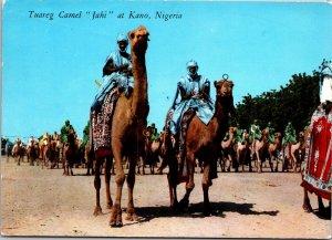 Kano Nigeria Postcard used 1967 Tuareg Camel
