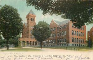 Lansing Michigan~Rotograph Postcard:: Industrial School for Boys Main Bldg~1904