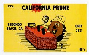 Nice Used QSL Radio Card From Redondo Beach CA. California