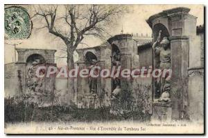 Old Postcard Aix en Provence Tomb Sec General Overview