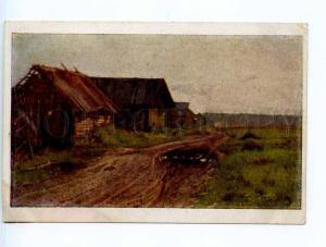 249888 Russia Levitan edge village Vintage Mosoblit postcard