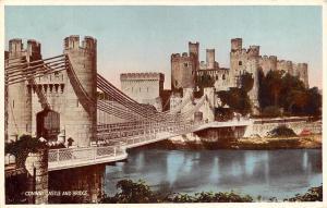Vintage Postcard Conway Castle and Bridge North Wales
