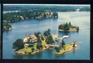 Zavikon Island, Ontario, Canada Postcard, Aerial View, International Bridge