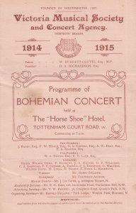 Bohemian Musical Tottenham Court Road Pub London WW1 War Theatre Programme