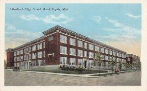 South High School, Grand Rapids, Michigan, early postcard, unused