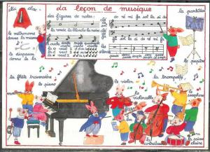 1998 French music card - used– mailed to USA