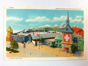 Vintage Postcard Swiss Village Chicago World's Fair