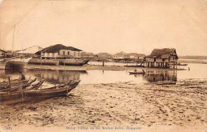 Singapore, Malay Village on the Rochor River, canoe boats