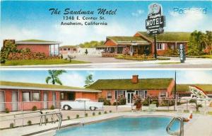 CA, Anaheim, California, The Sandman Motel, Multi View, MWM No. 23,183F