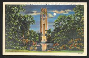Singing Tower at Night Mountain Lake Sanctuary Lake Wales Florida Unused c1937