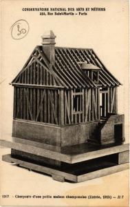 CPA PARIS (3e) - CNAM - Charpetre d'une petite maison champennoise (218984)