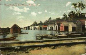 Millville NJ Duck Pond Boat House c1910 Postcard