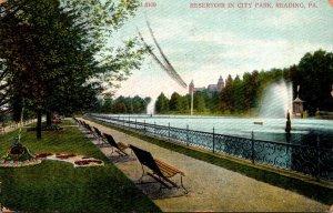 Pennsylvania Reading Reservoir In City Park 1907