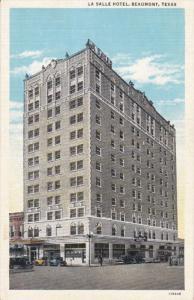 BEAUMONT , Texas , 1910s ; La Salle Hotel