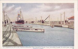 S.S. HONOLUAN[American-Hawaiian Line Ocean Liner] , Gatun Lake , Panama Canal...