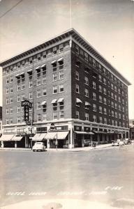 Keokuk Iowa~Hotel Iowa~Corner Traffic Light~Tap Room~Coffee Shop~1940s RPPC