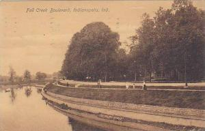 Scenic view, Fall Creek Boulevard, Indianapolis, Indiana,  PU-1907