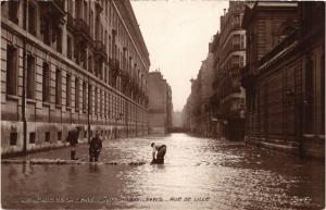 CPA PARIS Rue de Lille INONDATIONS 1910 (605383)