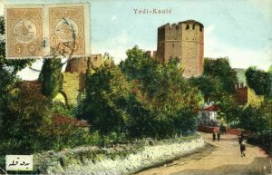 turkey, CONSTANTINOPLE, Yedikule Fortress (1912) Postcard