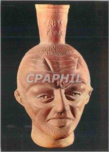 Postcard Modern Museum of Bardo Tete shaped vase Human III century AD Carthag...