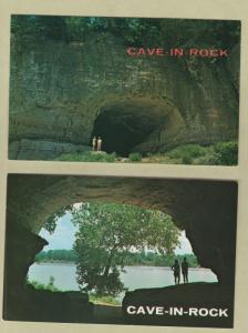 Cave In Rock Postcards Lot of Two Illinois Scenic Ohio River