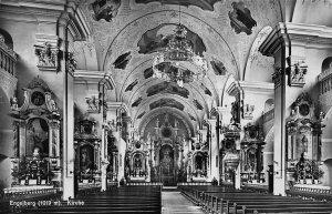 Switzerland Engelberg Kirche Church Interior Postcard