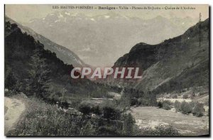 Old Postcard The High Pyrenees Bareges Valley Plateau St Justin Chain of Ardiden