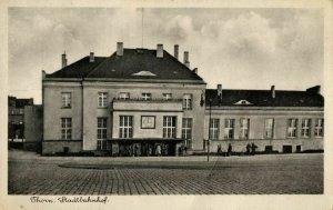 poland, THORN TORUN, Stadtbahnhof, Railway Station (1930s) Postcard