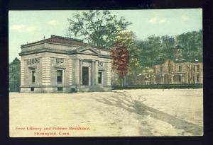 Stonington, Connecticut/CT/Conn Postcard, Free Library & Palmer Residence