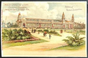 St Louis Exposition Varied Industries 1904 H-T-L Hold To Light Postcard