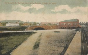 READVILLE , Massachusetts, 1907 ; N.Y. & N.H. Railroad Train Station