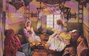 Algeria Women In A Turkish Sitting Room