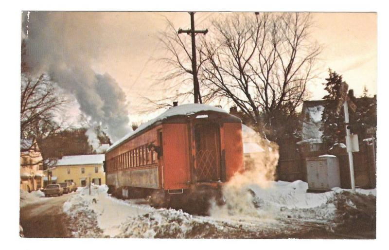 New Hope Ivyland Railroad Winter Bucks County PA Postcard