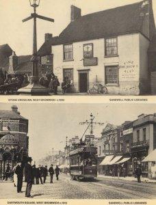 Darmouth Square West Bromwich Pub Staffs 2x Postcard s